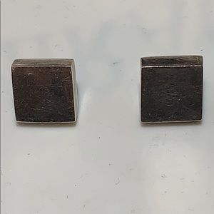 Jewelry - STERLING SILVER SQUARE POST EARRINGS